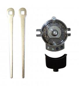 Commutateur avec 1 contact - 2 leviers en métal