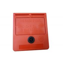 Boîte de clés d'urgence (texte en catalan)