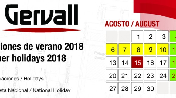 Vacances d'été 2018